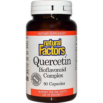 Natural Factors, Кверцетин, Комплекс биофлавоноидов, 90 капсул