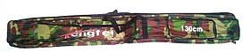 Чехол для удочек, длина 130 см, 2 больших отделения на змейках, 2 кармана для снастей, водоотталкивающая ткань