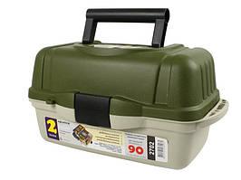 Ящик Aquatech 2702, для рыболовных принадлежностей, 1 большое отделение, 2 выдвижные полки, 10 перегородок