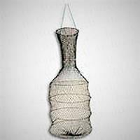 Садок рыболовный 5 колец, складывается восьмеркой, изготовлен из нити, длина 75 см