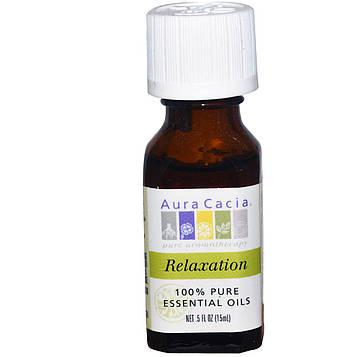 Aura Cacia, 100% чистое эфирное масло для релаксации, 0.5 жидкой унции (15 мл)