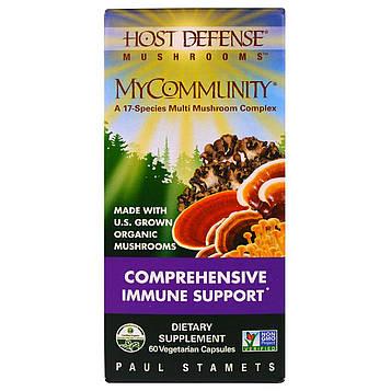 Fungi Perfecti, Host Defense, MyCommunity, 60 NP Caps