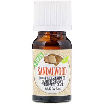 Healing Solutions, На 100% чистое эфирное масло, сандаловое дерево, 10 мл