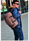 Рюкзак мужской. Дорожный, вместительный рюкзак. Сумка-рюкзак с холста. Качественный рюкзак., фото 2