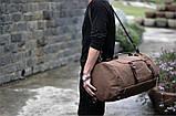 Рюкзак мужской. Дорожный, вместительный рюкзак. Сумка-рюкзак с холста. Качественный рюкзак., фото 3