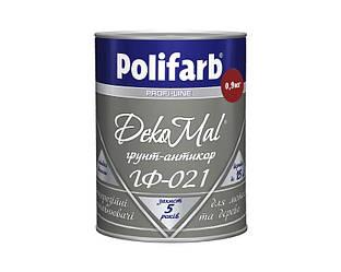 Грунт алкидный POLIFARB ГФ-021 DEKOMAL антикоррозионный, красно-коричневый, 0,9кг