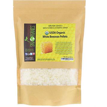 Sky Organics, Organic, White Beeswax Pellets , 16 oz (453 g)