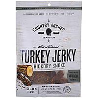 Country Archer Jerky, Абсолютно натуральная вяленая говядина, с запахом дыма, 2,75 унц. (78 г)