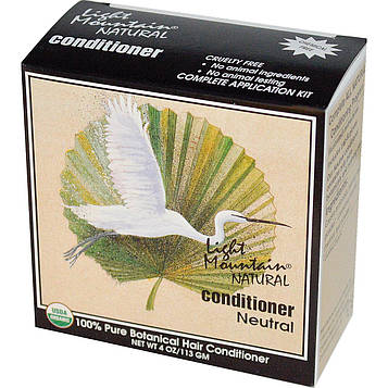 Light Mountain, Натуральный кондиционер для волос, нейтральный, 113 г