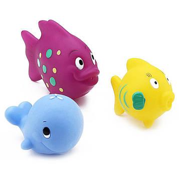 Nuby, Игрушечные рыбки для ванной, 6+м, 3 шт.