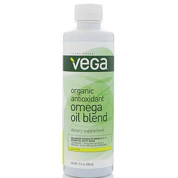 Vega, Органическая антиоксидантная смесь масел с омега-кислотами Organic Antioxidant Omega Oil Blend, 500 мл