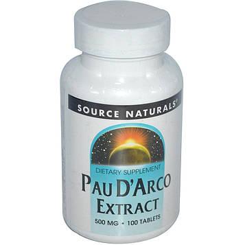 Source Naturals, Экстракт По дАрко, 500 мг 100 таблеток