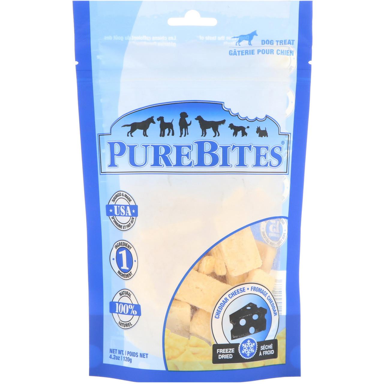 Pure Bites, Freeze Dried, Dog Treats, Cheddar Cheese , 4.2 oz (120 g)