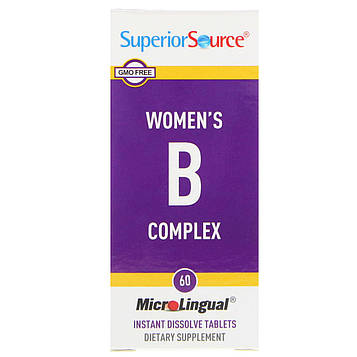 Superior Source, Womens B Complex, 60 MicroLingual Instant Dissolve Tablets