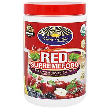Divine Health, Красный сверхпродукт, органическая смесь из фруктовых порошков и экстрактов, 6,30 унции (180 г)