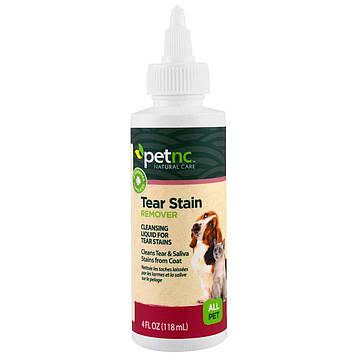 Petnc NATURAL CARE, Натуральные средства для ухода за домашними питомцами, средство от темных пятен от слез, для любых животных, 4 жидкие унции (118