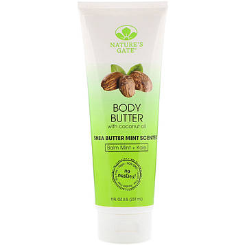 Natures Gate, Body Butter, Shea Butter Mint Scented, 8 fl oz (237 ml)