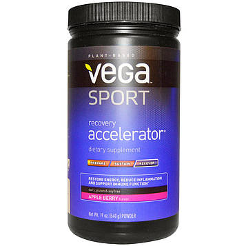Vega, Спортпит, ускоритель восстановления, порошок, яблоко-ягоды, 19 унций (540 г)