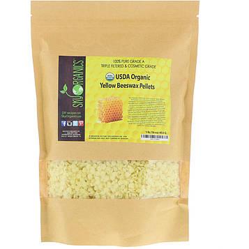Sky Organics, Organic, Yellow Beeswax Pellets, 16 oz (453 g)