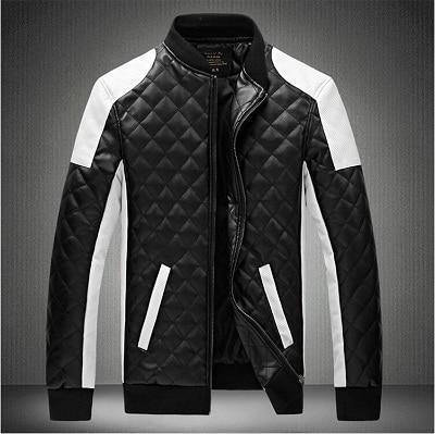 Кожаная мужская куртка! Стильная курта из экокожи (кожзам)! Куртка двухцветная на молнии!