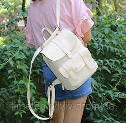 Женский стильный рюкзак Toposhine  Бежевый, Бежевый