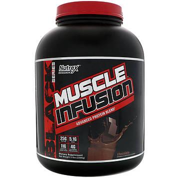 Nutrex Research, Сила мышц, усовершенствованная протеиновая смесь, шоколад, 5 фунтов (2268 г)