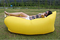 Надувное кресло-лежак желтое