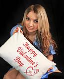 """Подушка подарочная """"Happy Valentine's Day"""", фото 2"""