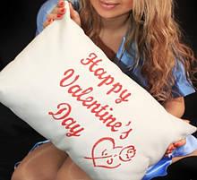 """Подушка подарункова """"Happy valentine's Day"""""""