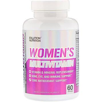 EVLution Nutrition, Womens Multivitamin, 120 Tablets