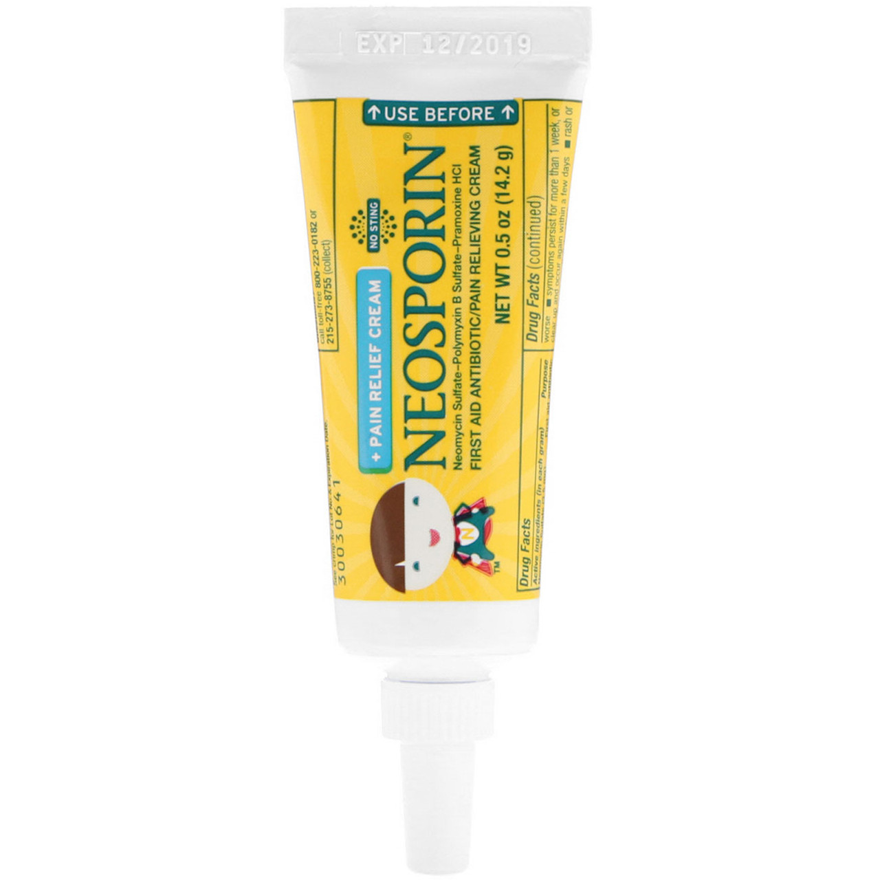 Neosporin, Крем двойного действия, крем для облегчения боли, для детей от 2  лет, 0,5 унций (14,2 г)