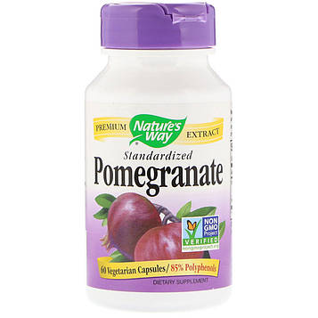 Natures Way, Pomegranate, Standardized, 60 Vegetarian Capsules