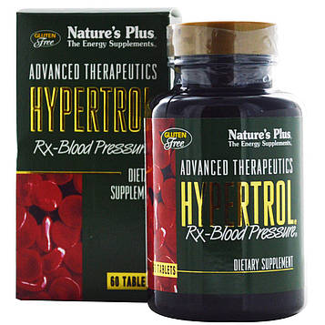 Natures Plus, Advanced Therapeutics Hypertrol для кровяного давления, 60 таблеток