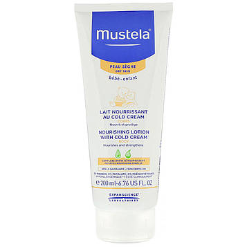 Mustela, Baby, Nourishing Body Lotion With Cold Cream, For Dry Skin, 6.76 fl oz (200 ml)