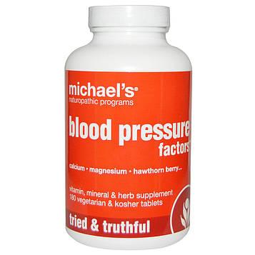 Michaels Naturopathic, Blood Pressure Factors Формула для Артериального Давления 180 овощных таблеток