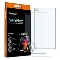 Защитная пленка Spigen для LG V20 Neo Flex HD + поклейка в подарок