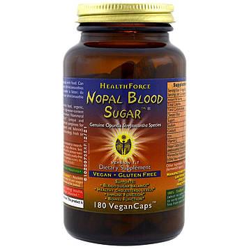 HealthForce Superfoods, Средство для сахара в крови из мексиканского кактуса, 180 веганских капсул