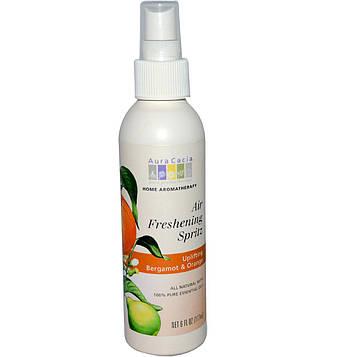 Aura Cacia, Ароматизатор воздуха с бодрящим ароматом бергамота и апельсина, 6 жидких унций (177 мл)