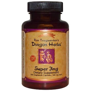 Dragon Herbs, Супер цзин, 500 мг, 100 растительных капсул