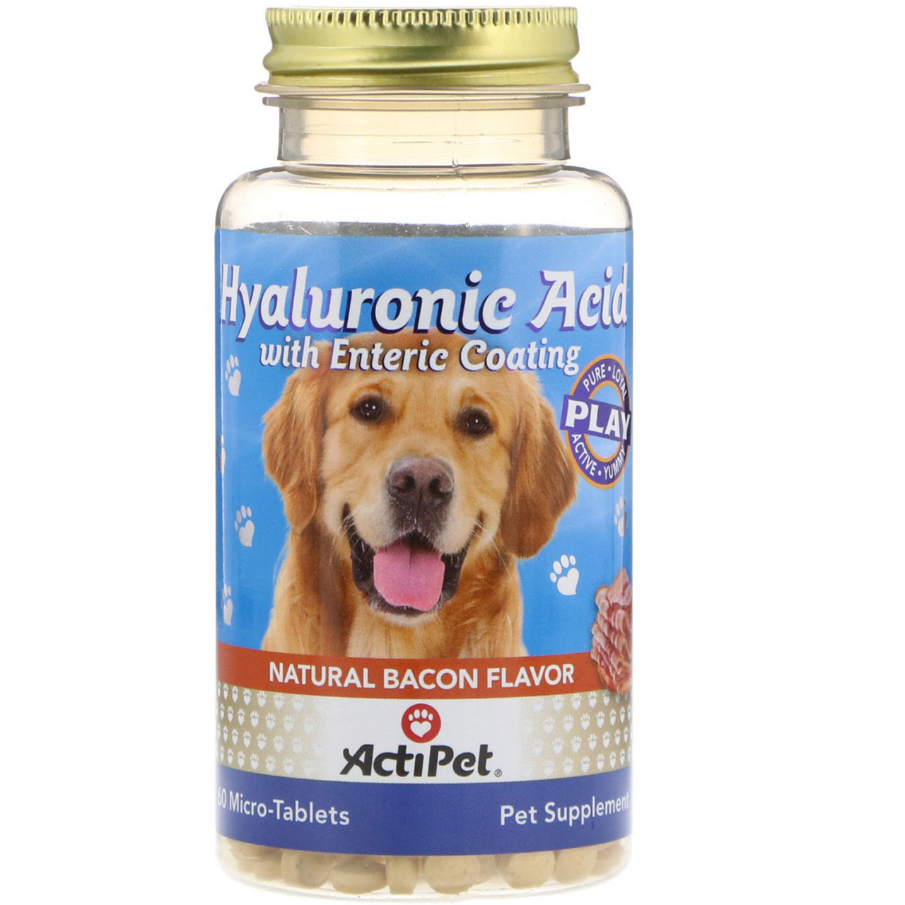 Actipet, Hyaluronic Acid for Dogs, Natural Cheddar Cheese Flavor, 60 Micro-Tablets