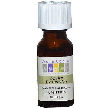 Aura Cacia, 100%-ное чистое эфирное масло, лаванда-спик, 0,5 ж. унц. (15 мл)