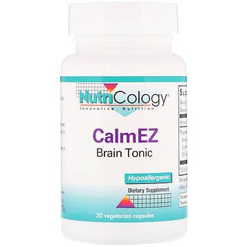 Nutricology, CalmEz, тоник для мозга, 30 капсул в растительной оболочке