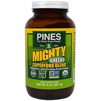 Pines International, Могучая зелень, смесь из суперпродуктов, 8 унций (227 г)