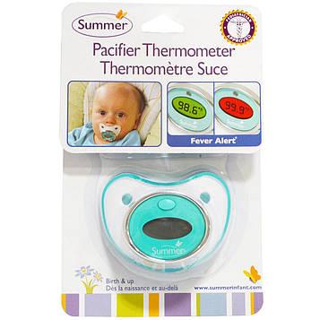 Summer Infant, Термометр-соска, для детей, начиная от младенческого возраста