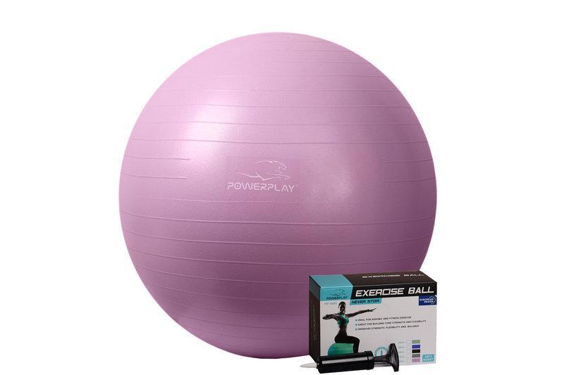 Мяч гимнастический PowerPlay 4001 Фиолетовый (75 см.) [+ Насос]