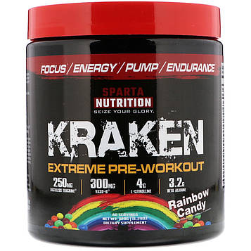 Sparta Nutrition, Kraken Extreme Pre-Workout, Rainbow Candy, 11.29 oz (320 g)