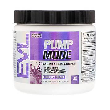 EVLution Nutrition, PumpMode, Non-Stimulant Pump Accelerator, Furious Grape, 5.3 oz (150 g)