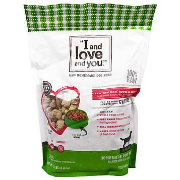 I and Love and You, Домашний Корм для собак, Raw Boom Ba Обед из Говядины, 1,5 фунта (0,68 кг)