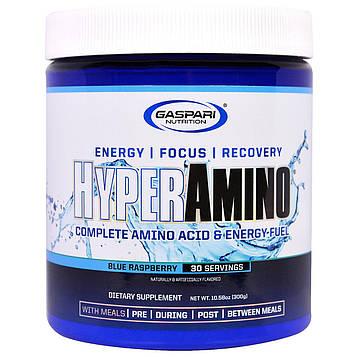 Gaspari Nutrition, ГиперАмино, аминокислотный комплекс со вкусом ежевики, 10,58 унции (300 г)