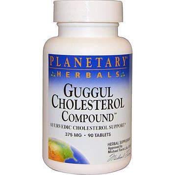 Planetary Herbals, Холестериновые соединения гуггула, 375 мг, 90 таблеток